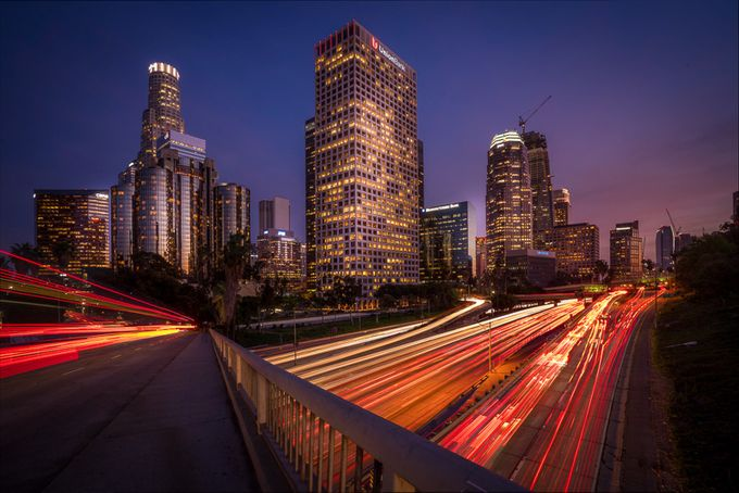 Los Angeles Downtown by sergeramelli - Composition And Leading Lines Photo Contest