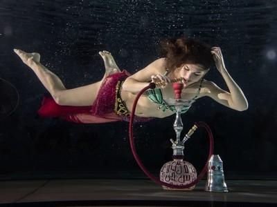 Underwater waterpipe - shisha