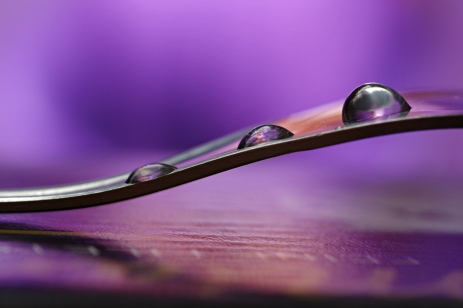 purple water drops