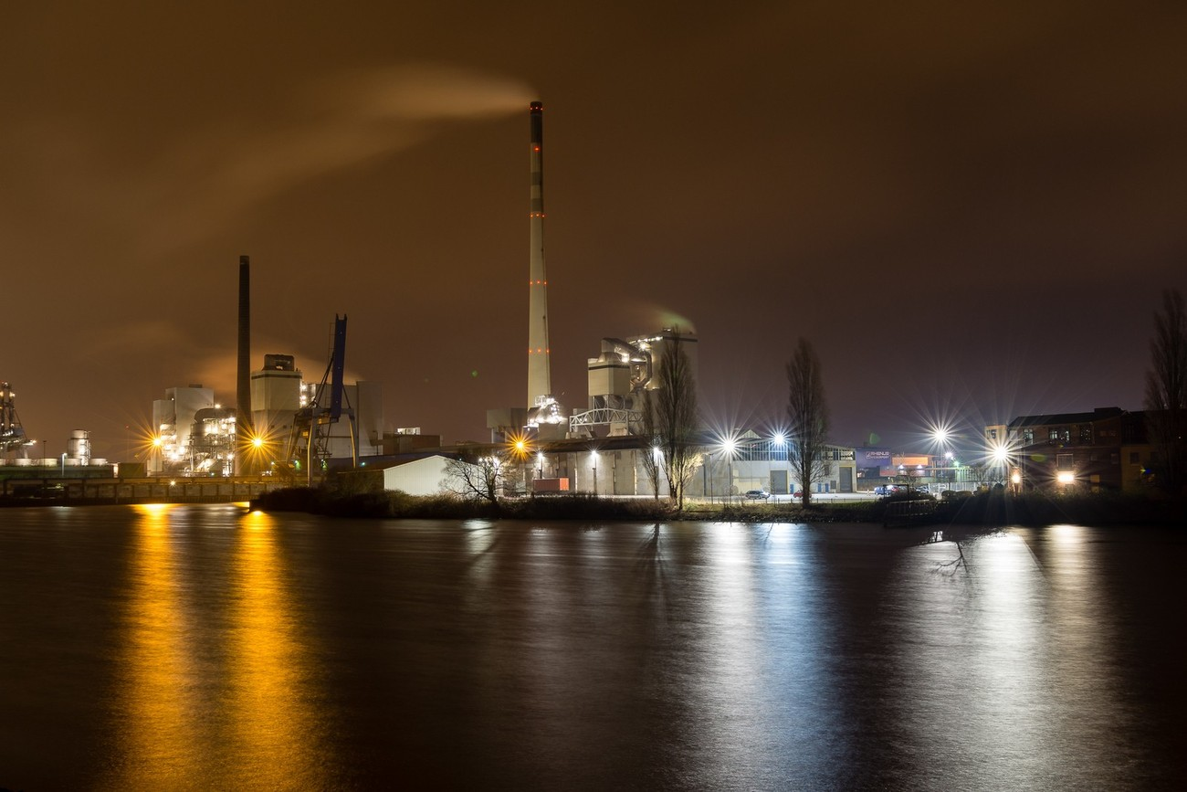 Picture shot at Bremen industry harbour