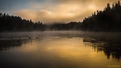 Peaceful morning on the Yellowstone River