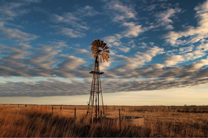 Kansas plains  by Nikoncowboy - Windmills Photo Contest