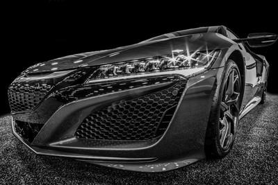 Acura NSX b&w