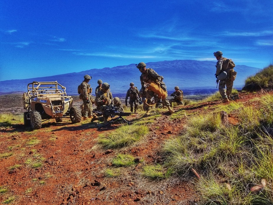 3rd Marines Training at Pohakuloa