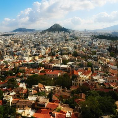 View from the Acropolis overlooking Athens, Greece!