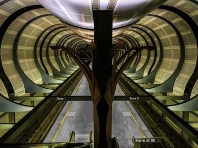 Los Angeles, CA Metro Station at Hollywood & Highland