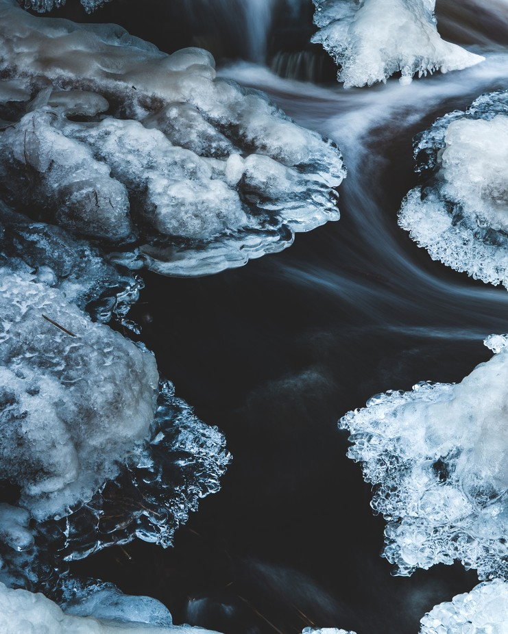 Black River by mikkokangasmaa - Winter Long Exposures Photo Contest