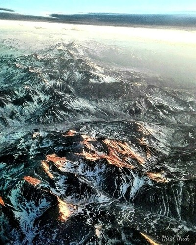 Snow covered Andes