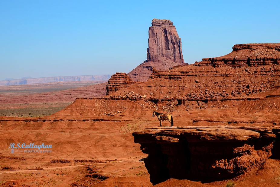 This horse is kept on the ledge for tourists to photograph (for a modest fee).