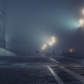 a night in Venice - soft and moody because of the fog