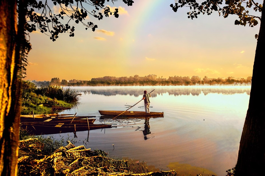 the boatman and the rainbow