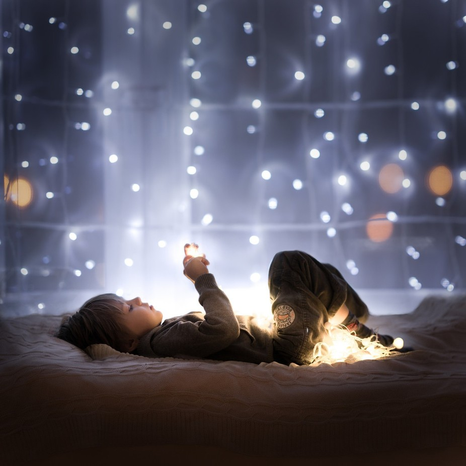 Christmas Eve ( I believe ) by Iwona - People With Bokeh Photo Contest