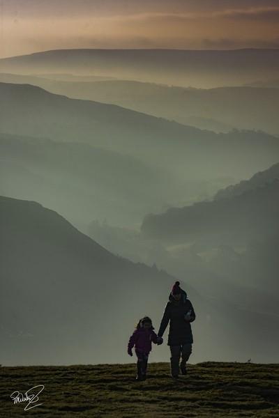Sunrise on Moelfre Mountain.