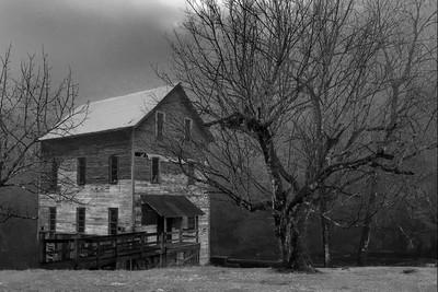 Wilburn Mill, Foggy Spring Day