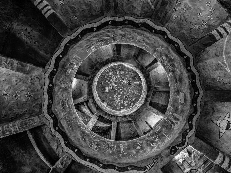 Looking up inside the Watchtower