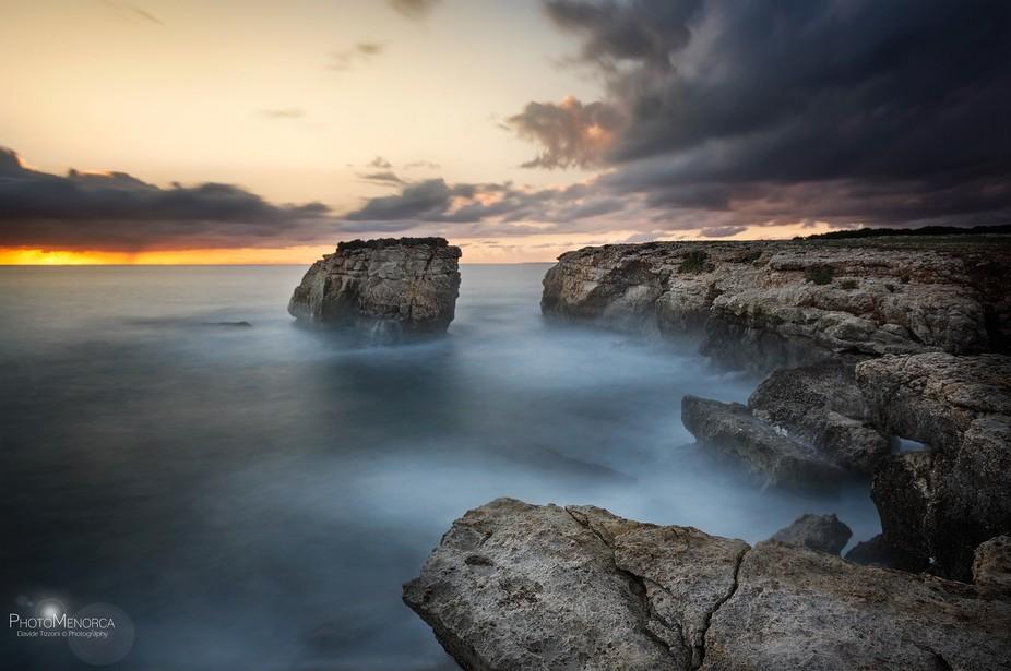 Last colors in Punta Rodona  Menorca - Baleares (Spain)