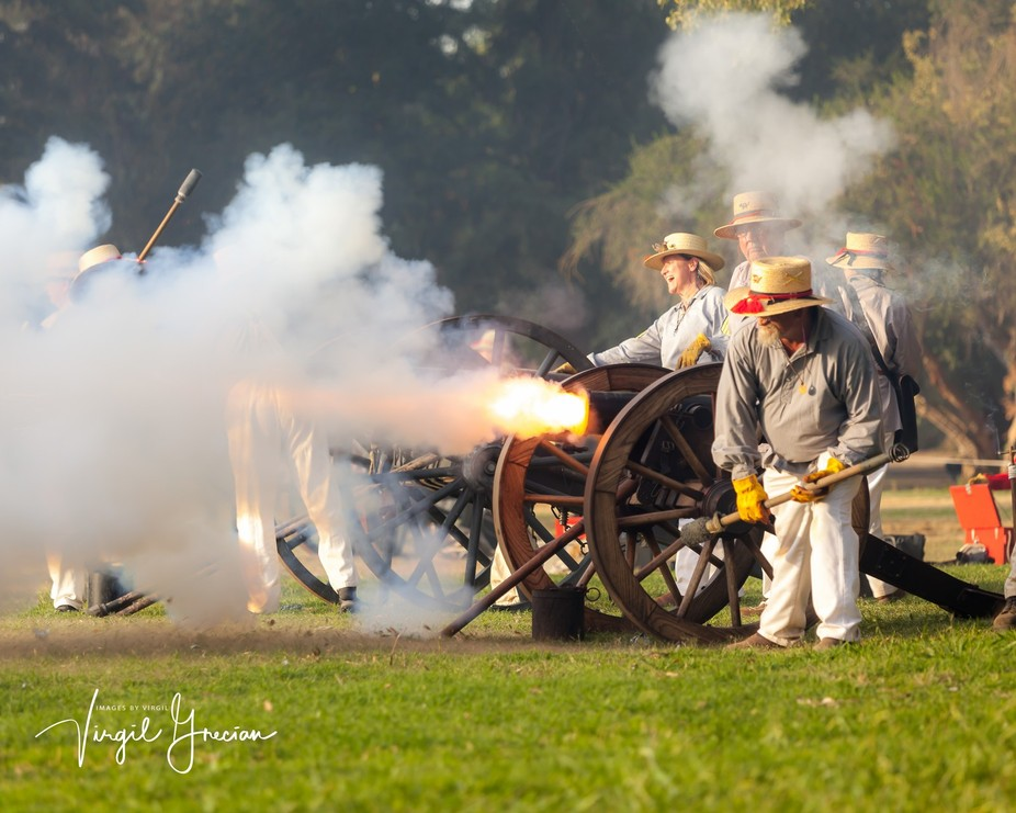 Small canons were used in the Civil War to lob explosive rounds over short distances.