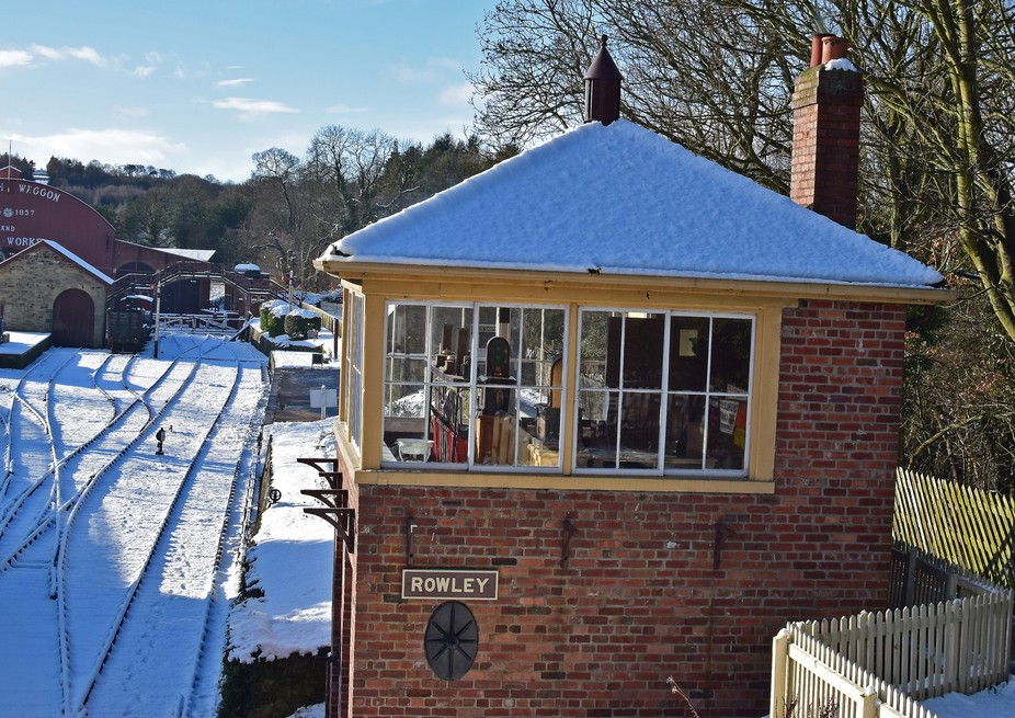 Winter time at Rowley station,Beamish museum