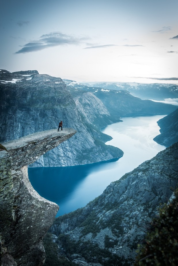 trolltunga by hasmonaut - Spectacular Cliffs Photo Contest
