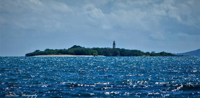 """Cardona Island """"Light Tower"""" is a Key About 3/4 of a mile on the shores of Ponce, Puerto Rico"""
