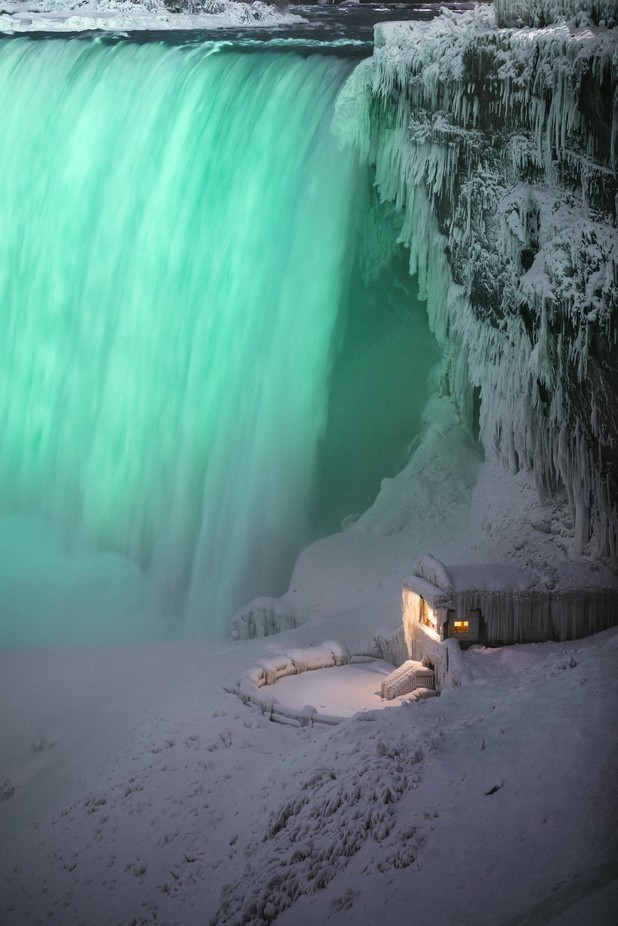 Cabin by the falls  by IBGVisuals - Canada Photo Contest