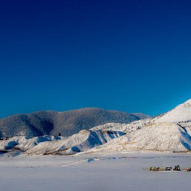 The hills around Kamloops B C
