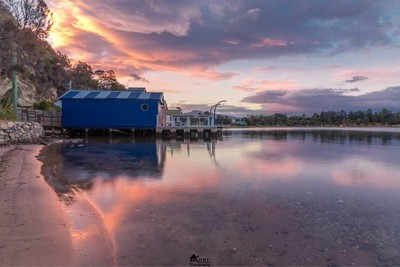 Sunset set at the Boat Sheds
