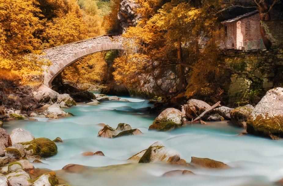 Long exposure in Orrido di Botri, Val  d' Aosta (IT).