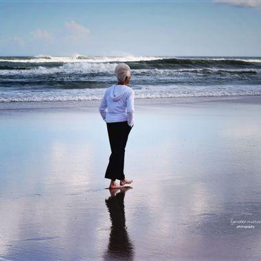 Mom Enjoying Daytona Beach