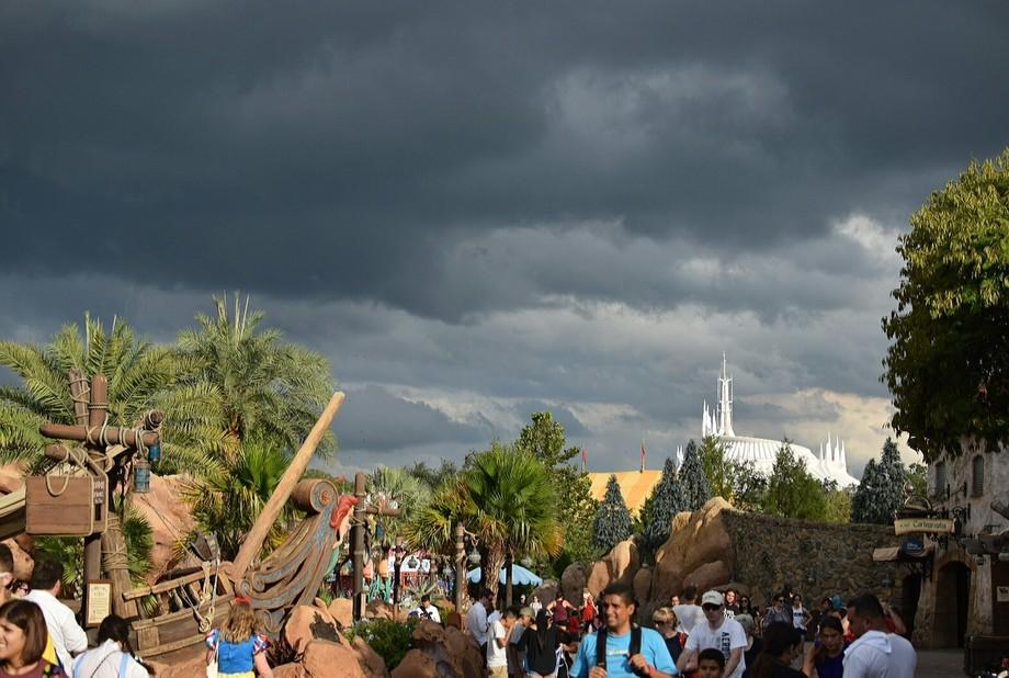September 2017 Disney world, Hurricane Irma heading towards Orlando.