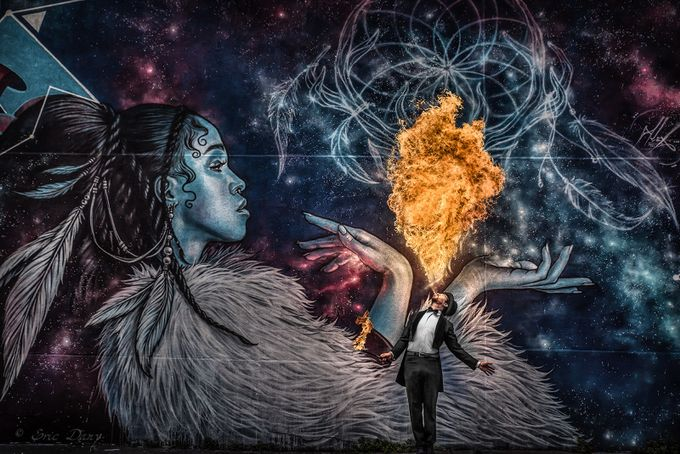 Lighting up Twigs by Eric_Dany - Street Art Photo Contest
