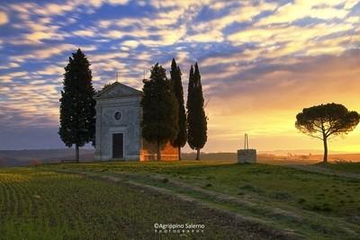 Sunrise at Vitaleta Chapel