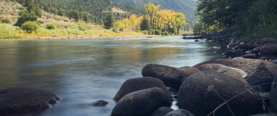 Upper Rio Grande River in Mineral County, Colorado.