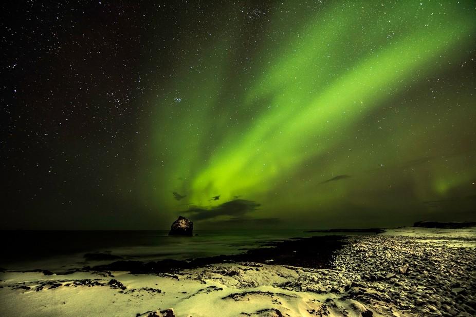 Reykjanes Geopark Aurora
