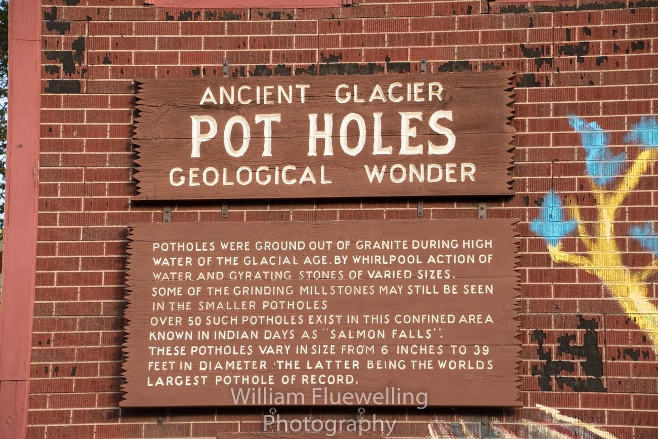Glacier Potholes Information about them - Shelburne Falls MA