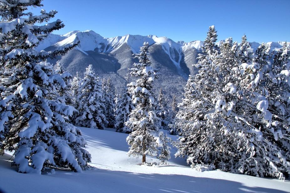 Beautiful Snowcapped mountains - Sulphur Mountain - Banff