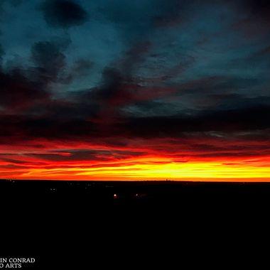 """Dawn """"Rainbow"""" over Colorado Springs, Colorado"""
