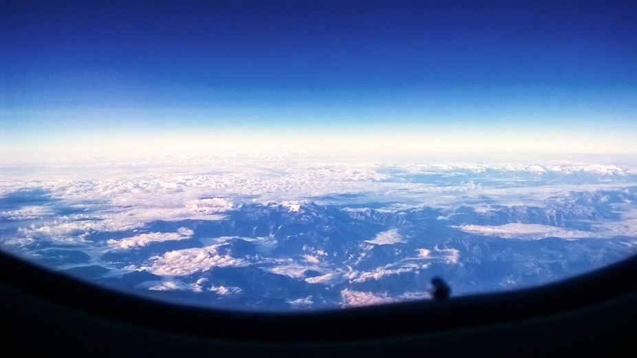 Somewhere above Europe