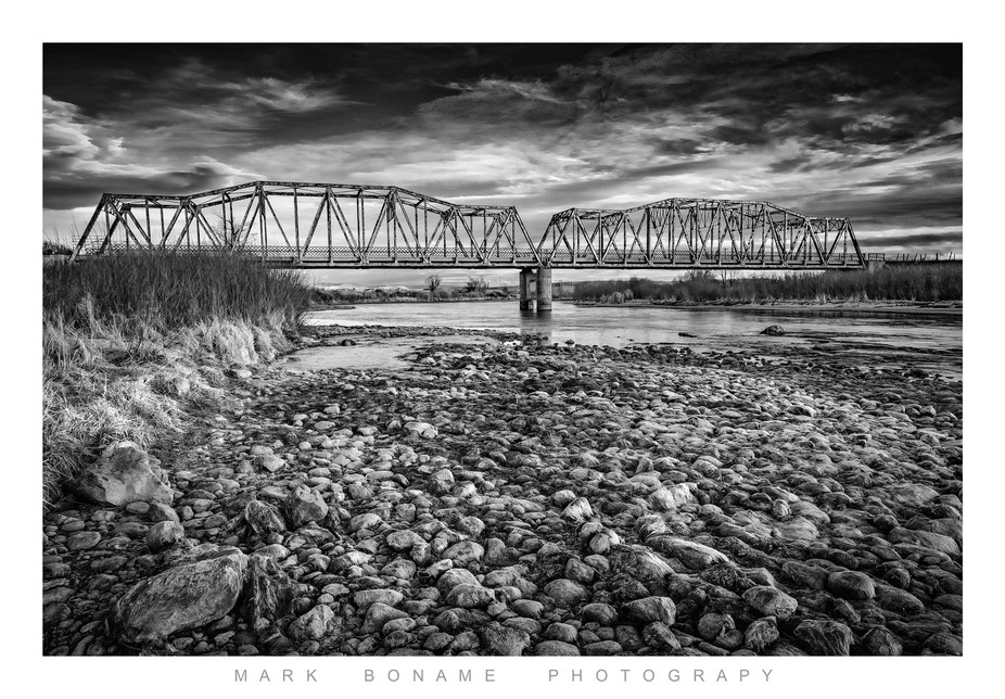 Government Bridge located on the North Platte River in Central Wyoming.