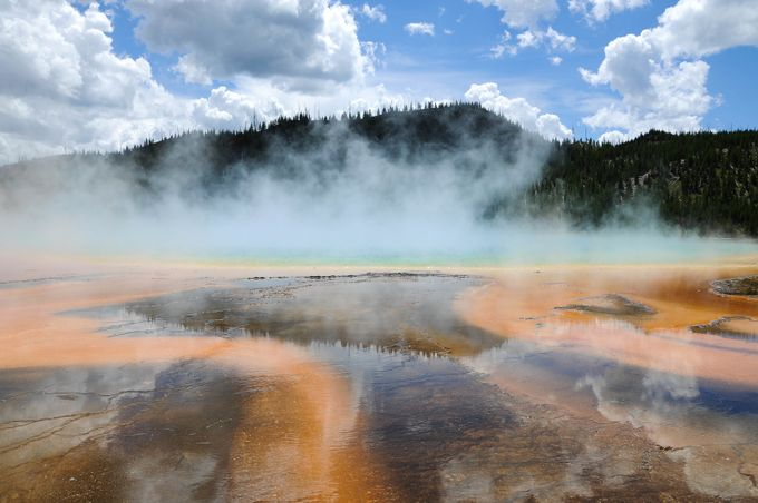 Grand Prismatic Spring by sandrarots - Capture The Four Elements Photo Contest