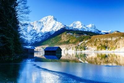 winter @ Almsee, upper Austria