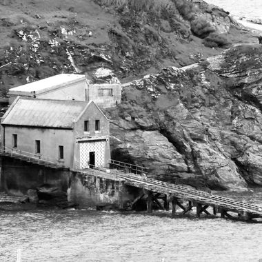 Lifeboat house.