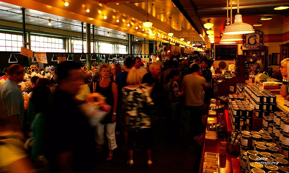 One of the finest public markets on the west coast. The Pike Place Market is in Seattle and offer...