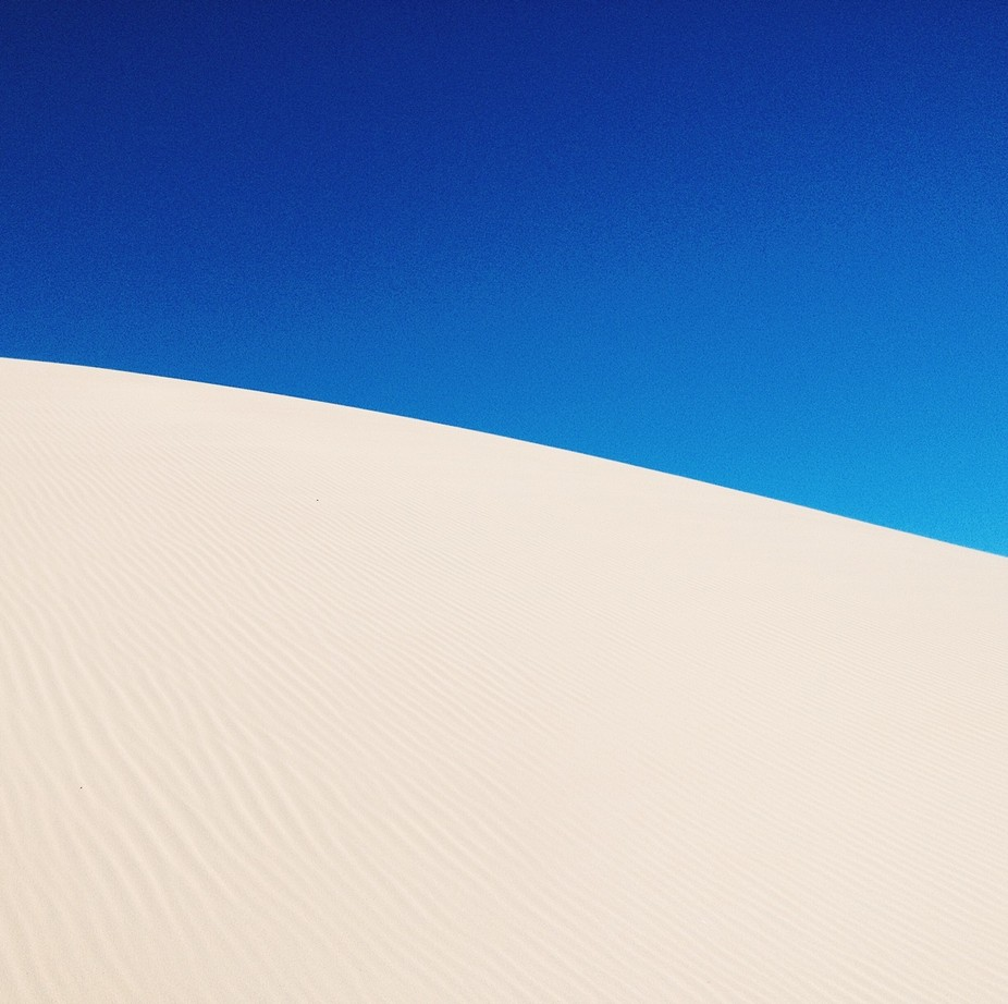 My brother and I were canoeing down the river to the sea. Took this photo of one of the dunes usi...