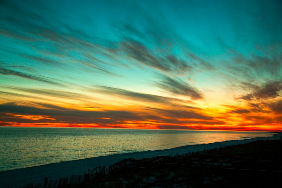 Another amazing sunset from our condo in Destin.