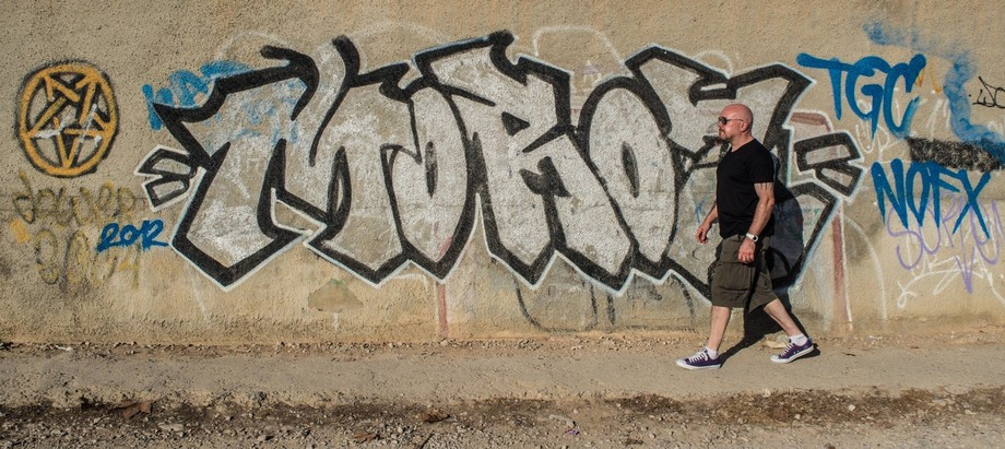 Street art style, Benidorm, Costa Blanca, Spain