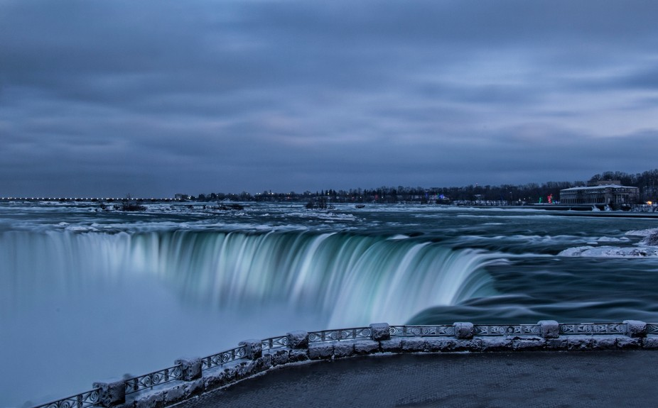 Took a long exposure of the falls going over at the brink