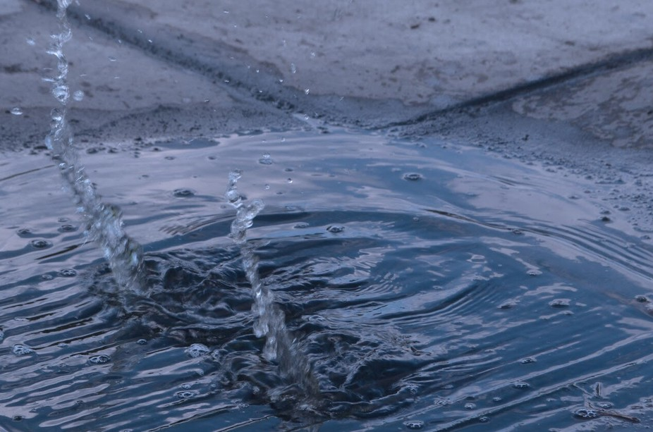 My friend was nice enough to help me with this photo. I love the way the ripples look with the gr...