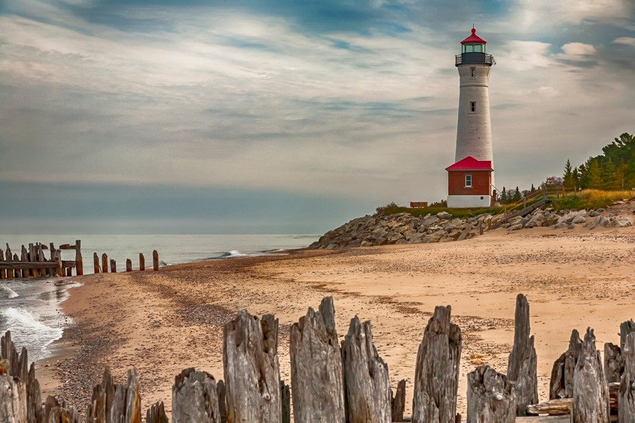 Crisp Point Lighthouse is being restored, and want to get the last pictures before snow falls. It...