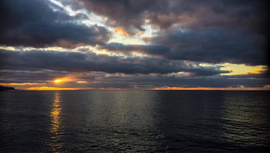 Blackwater. Atlantic winter sunrise in the Azores.